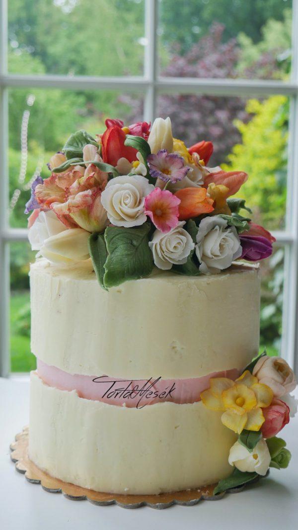 Fault-line cake torta burkoló és díszítő workshop